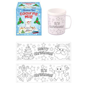 Christmas Colouring Mugs