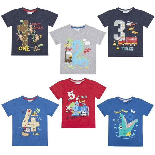 Boys Birthday Milestone Printed Number T-Shirts | Oscar & Me - Children's Clothing