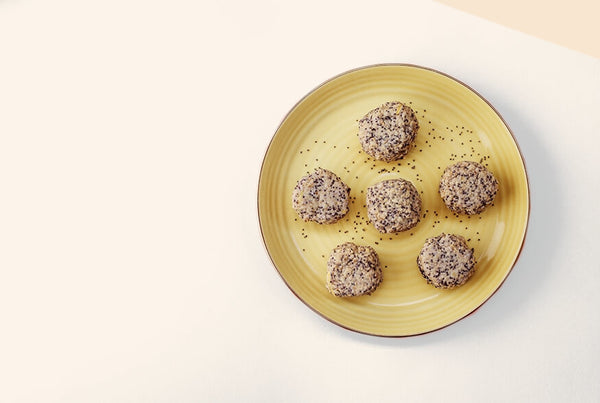 Lemon-Poppy Energy Balls with Vanilla Sky