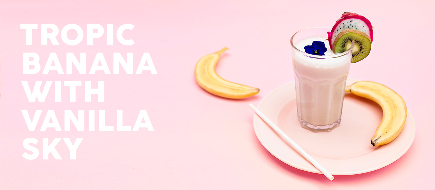 Banana shake with vanilla