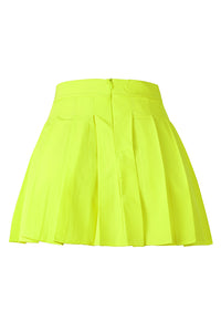 Sweet Fold Design Yellow Skirt