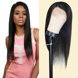 DIVA QUEEN 100% VIRGIN REMI HUMAN HAIR LACE WIG 360 LACE FRONTAL WIG LAYERED STRAIGHT 22