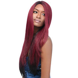 OUTRE SYNTHETIC LACE FRONT WIG L PART NATURAL YAKI 24""