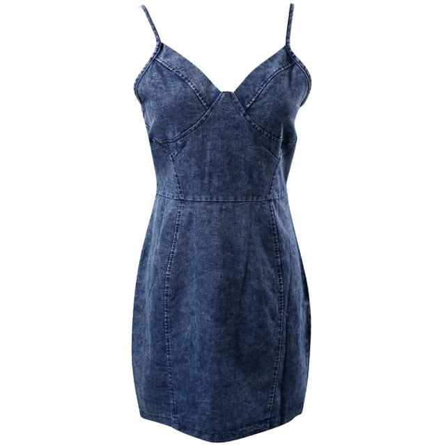 Summer Women Lady Dress Sleeveless Party Jeans Dress Denim Fashion Clothes Summer Mini Dress