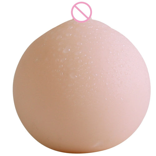 Silicone Artificial Breasts False Chest With Hole Male Masturbation Breasts Mimi Ball 8.2*7.5cm Adult Product