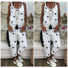 Newest Arrivals Women's Casual Printed Strappy Baggy Loose Jumpsuit Female Summer Sleeveless Harem Long Playsuit s-2xl