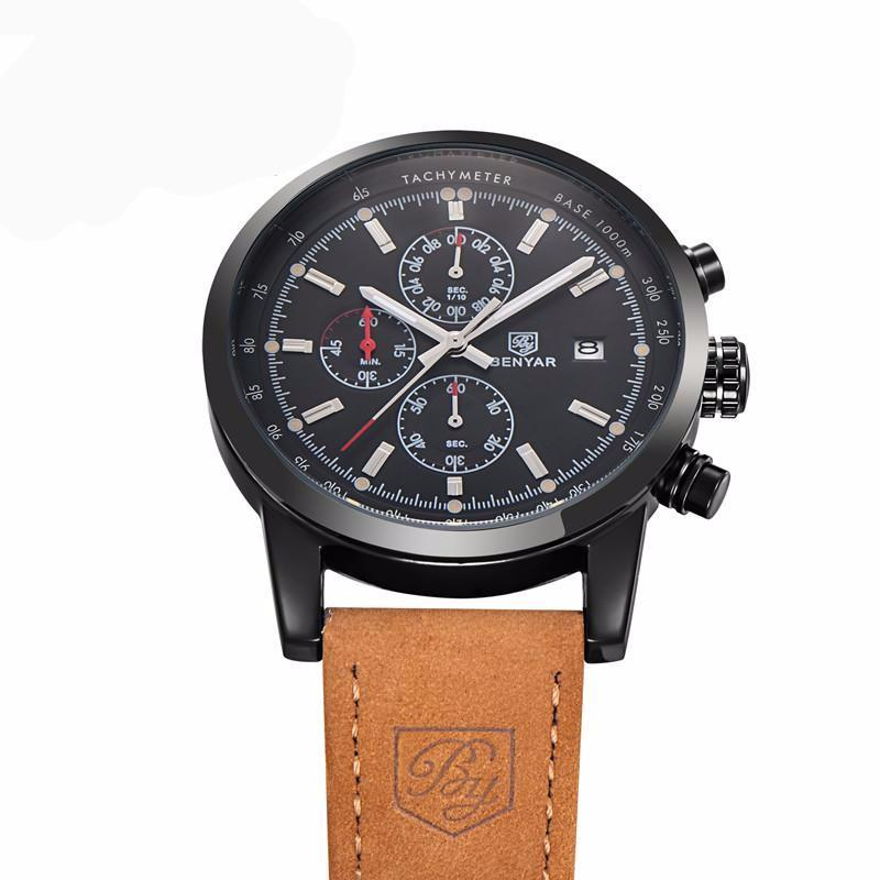 deluxe black chronograph watch watches quartz products trouvaille chrono