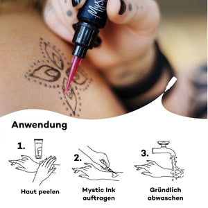 Mystic Ink für temporäre Tattoos