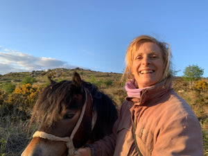 Tracey with Rainbow on Dartmoor talks about her second children's book