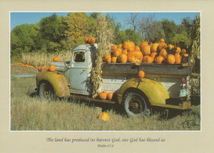 S027 - Pumpkin Harvest - Scripture Card - Rectangle