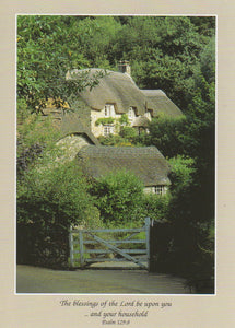 S034 - Country Cottages - Scripture Card - Rectangle