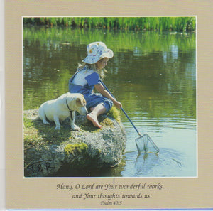 S050 - Fishing For Two - Scripture Card - Square