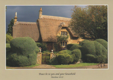 S062 - Cotswold Cottage - Scripture Card - Rectangle