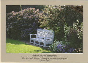 S078 - Garden Seat - Scripture Card - Rectangle