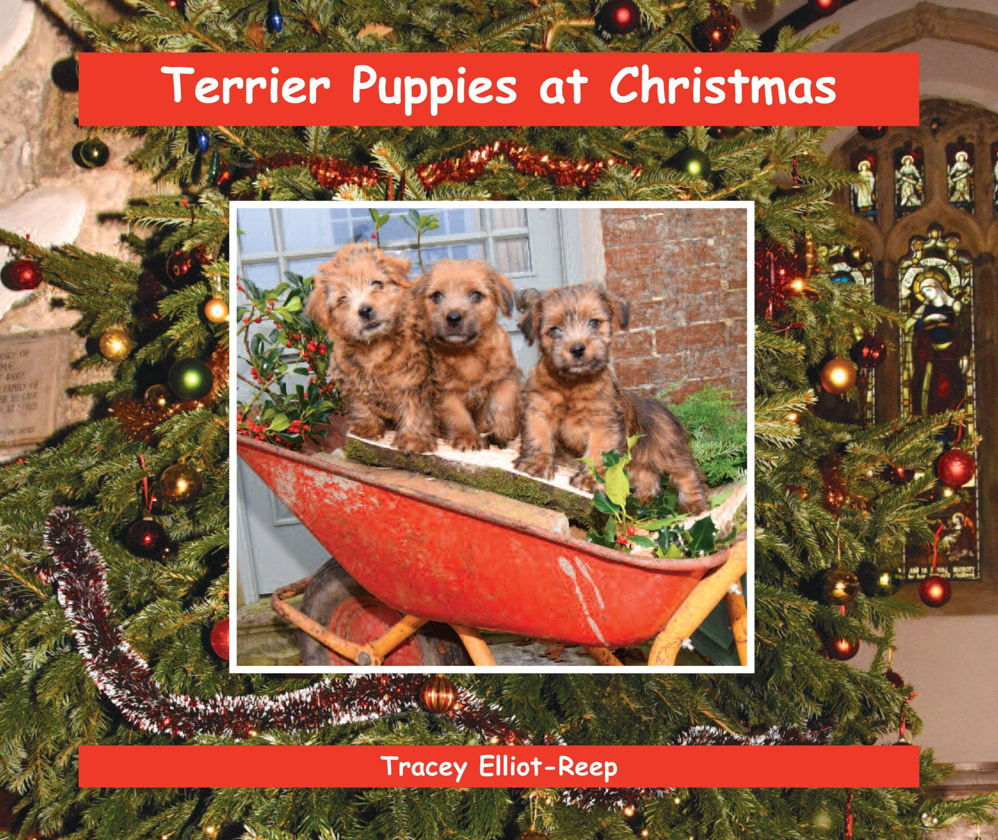 B029 - Terrier Puppies at Christmas - Flexi-cover Book