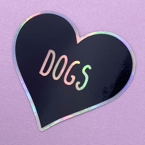HOLOGRAPHIC sticker  - Dogs Heart