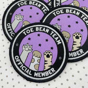 Toe Bean Team Official Member - Iron on Patch