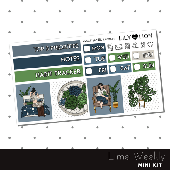 Lime Weekly Mini Kit - Stay At Home