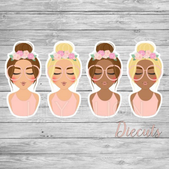 Bun Flower Crown - DIECUT