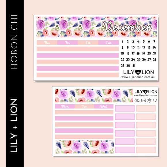 Hobonichi COUSIN Monthly Kit - CHOOSE YOUR MONTH - IN BLOOM