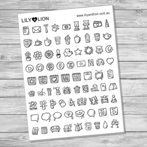 Doodle Icons - Mixed