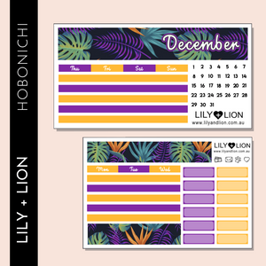 Hobonichi COUSIN Monthly Kit - CHOOSE YOUR MONTH - PARADISO