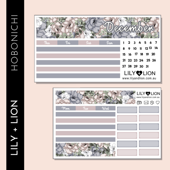 Hobonichi COUSIN Monthly Kit - CHOOSE YOUR MONTH - STAYING IN TONIGHT