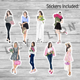 Sticker Die Cut Bundle - Flower Market Girls