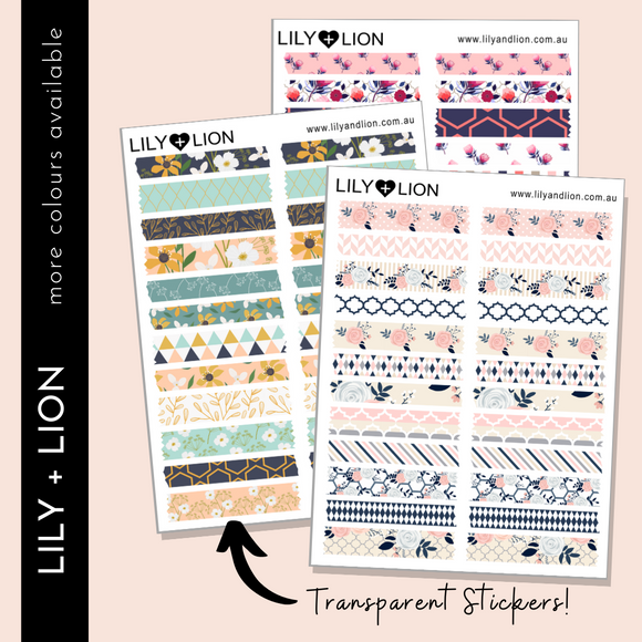 TRANSPARENT WASHI SWATCHES