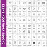 Doodle Icons - Single choose your ICON