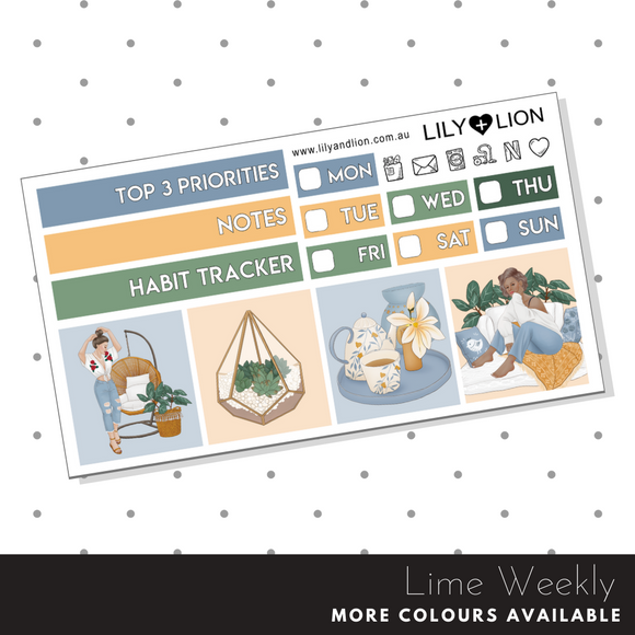 Lime Weekly Mini Kit - Hygge Lifestyle