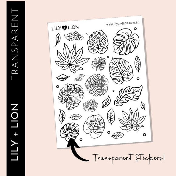 TRANSPARENT Leaf Doodles