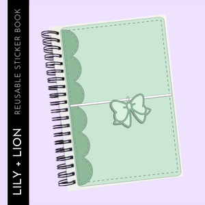 Reusable Sticker Book: PLANER BOW COVER mint green