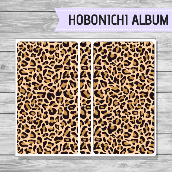 Hobonichi Sticker Album - Brown Leopard