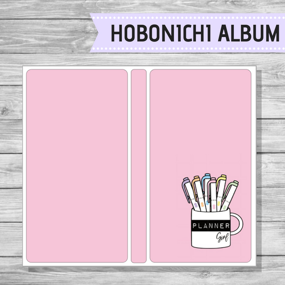 Hobonichi Sticker Album - Planner Girl Cup