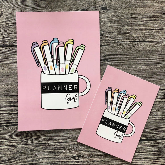 POSTCARD - Planner girl Cup