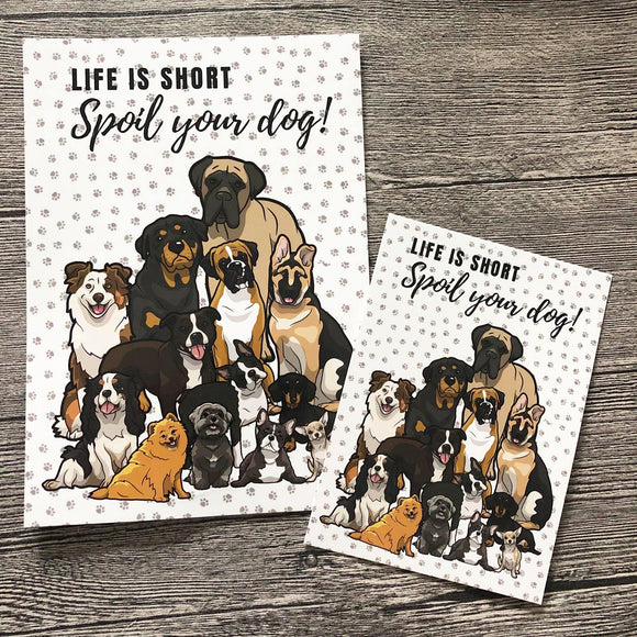 POSTCARD - Spoil your Dog