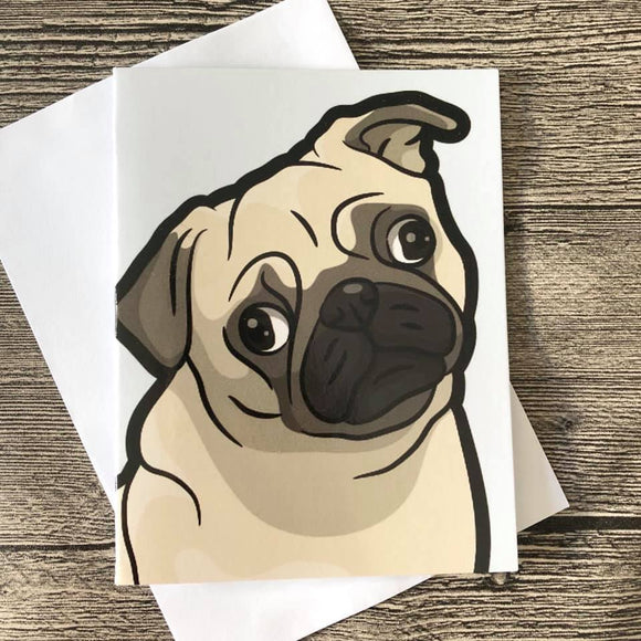 GREETING CARD - PUG