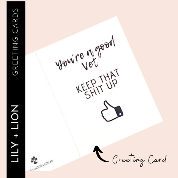 GREETING CARD: You're a Great Vet!