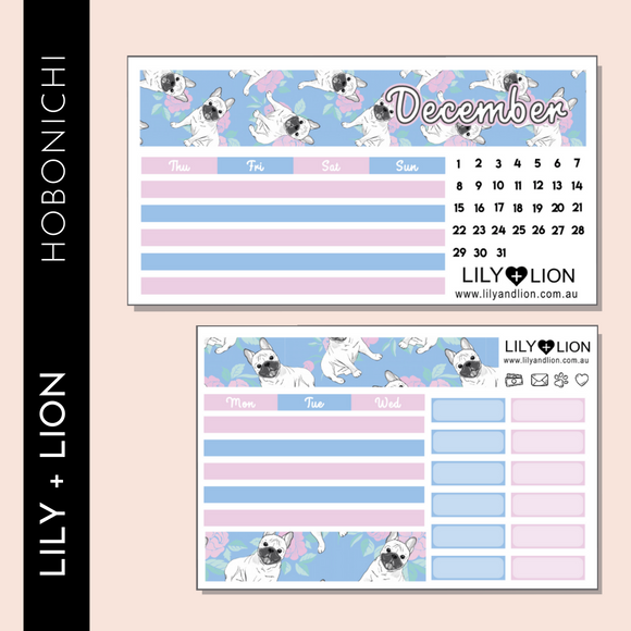 Hobonichi COUSIN Monthly Kit - CHOOSE YOUR MONTH - FRENCHIE