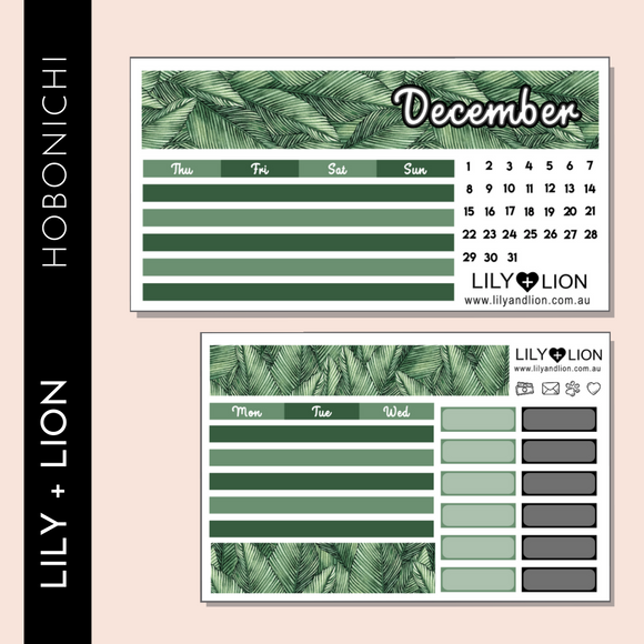 Hobonichi COUSIN Monthly Kit - CHOOSE YOUR MONTH - LEAVES