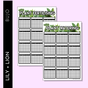 Plant Care Tracker sheets