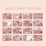 Blush Doodle Flat lays - MORE OPTIONS