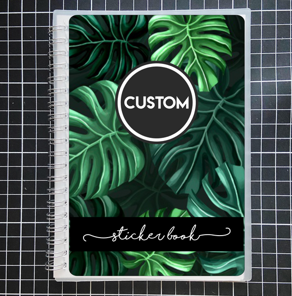 Reusable STICKER BOOK: MONSTERA LEAVES