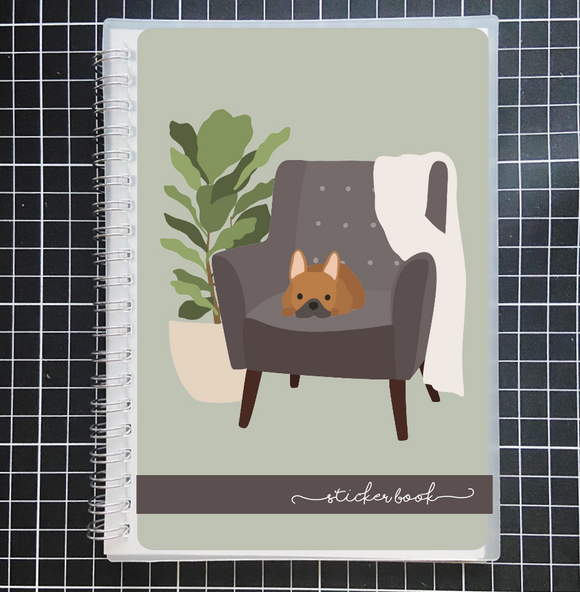 Reusable STICKER BOOK: MODERN DOG