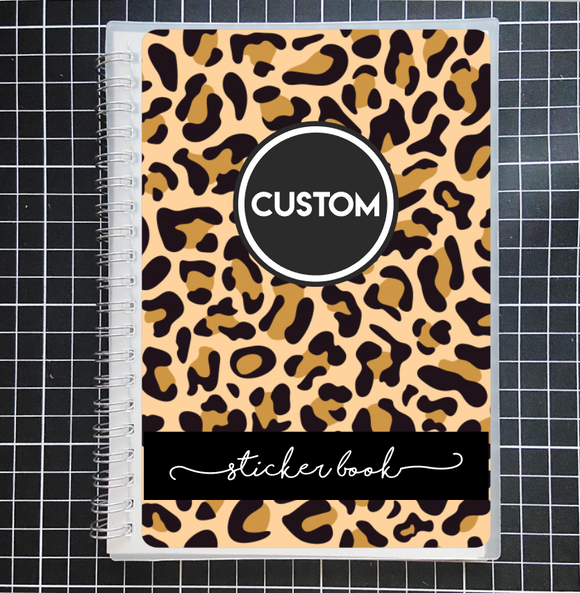 Reusable STICKER BOOK: LEOPARD