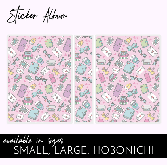 STICKER ALBUM:  Stationery Pink