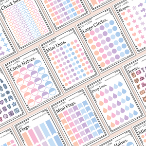 MINIMALIST MINI SHEETS - PASTEL