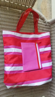 Estee Lauder tote shopper handbag and coin purse