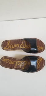 Sam Edelman women's sandals slides black and cork size 8M